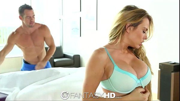 HD – FantasyHD Busty Corrine Blake gets rub down on pierced clit
